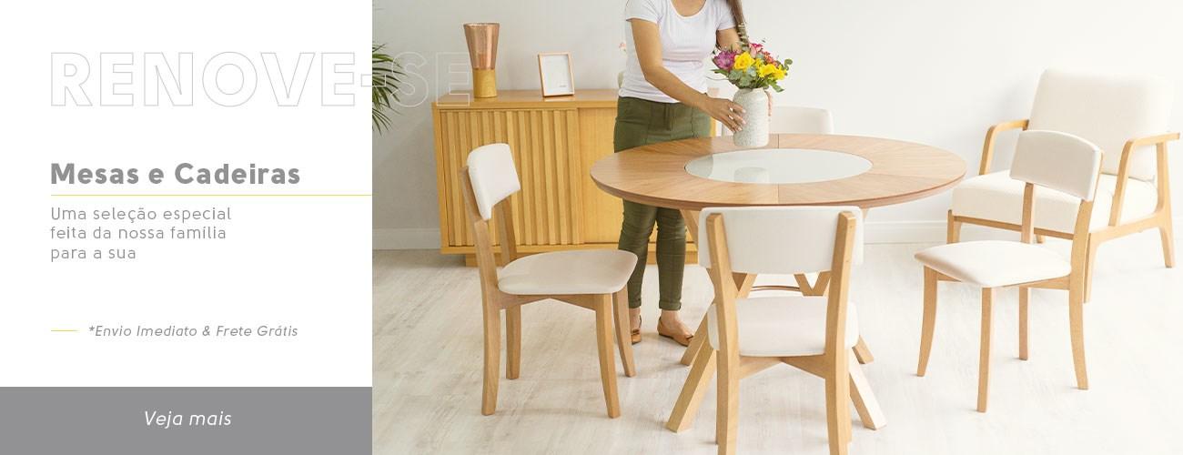 Mesas e Cadeiras Madeira Maciça - Móveis Gruber