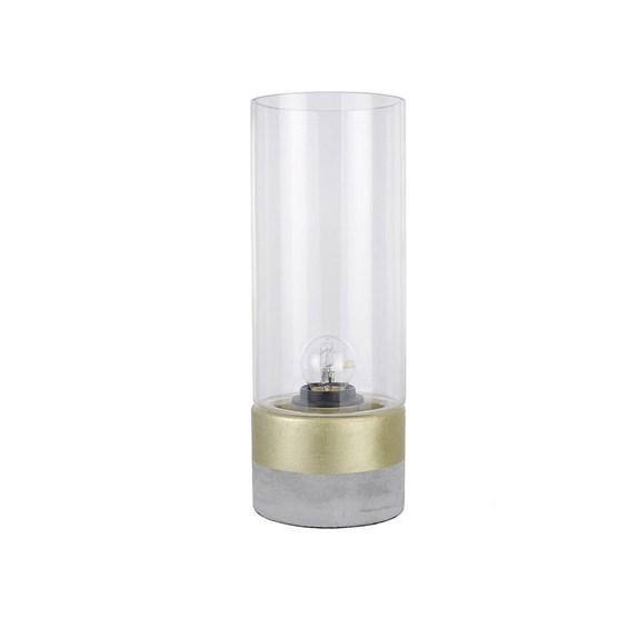 Abajur Sandy 31,5cm de Concreto e Metal/Vidro Moderno