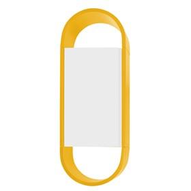 Armário Tyrone Duas Cores C/1 Porta - Amarelo/Branco