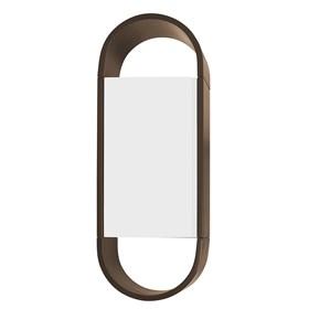 Armário Tyrone Duas Cores C/1 Porta - Marrom/Branco
