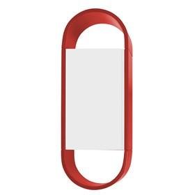 Armário Tyrone Duas Cores C/1 Porta - Vermelho/Branco