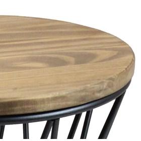 Banco Seat Garden Loney Estrutura Aço Carbono e Assento de Pinus