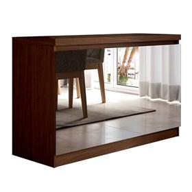 Buffet 3 Portas Truzzi Castanho com Espelho - Linha Stilo