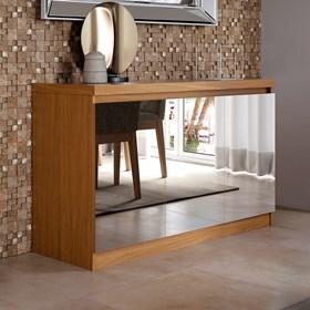 Buffet 3 Portas Truzzi Natural com Espelho - Linha Stilo