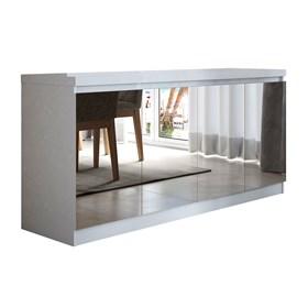 Buffet 4 Portas Truzzi Branco com Espelho - Linha Stilo