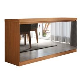 Buffet 4 Portas Truzzi Natural Com Espelho - Linha Stilo