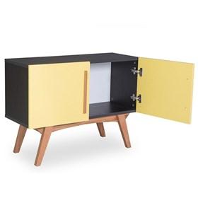 Buffet Preto Medin com 2 Portas Coloridas