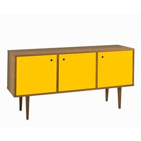 Buffet Sarie em Madeira Maciça C/3 Portas - Amarelo
