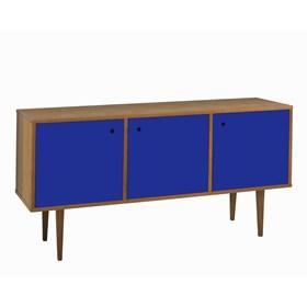 Buffet Sarie em Madeira Maciça C/3 Portas - Azul