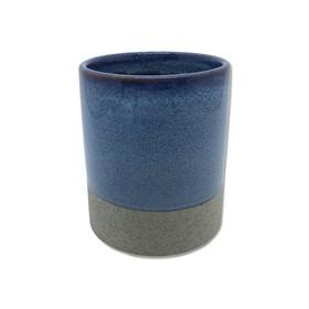 Cachepot Bolgan em Cerâmica 11cm - Cinza Escuro