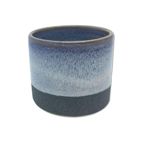 Cachepot Bolgan em Cerâmica 6cm - Cinza Claro