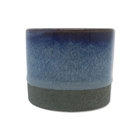 Cachepot Bolgan em Cerâmica 6cm - Cinza Escuro