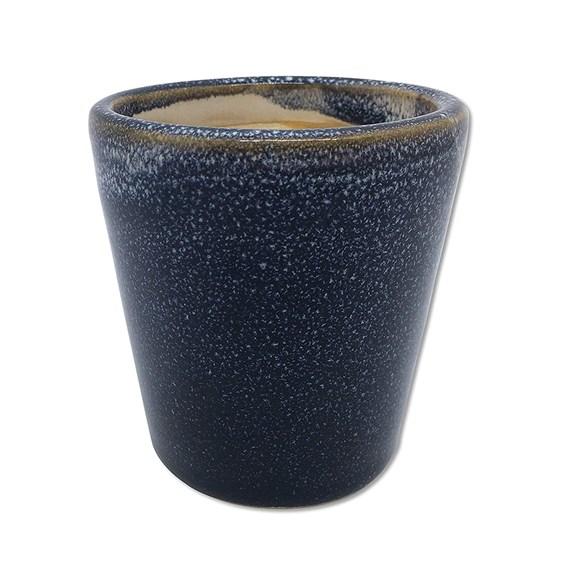 Cachepot Kurbeti em Cerâmica 8cm - Azul Escuro