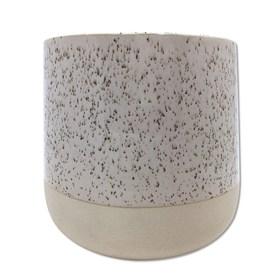 Cachepot Lingo em Cerâmica 10,5cm - Branco