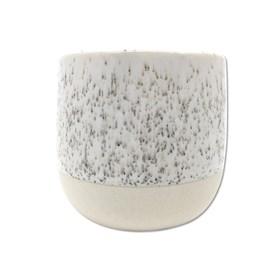 Cachepot Lingo em Cerâmica 7,5cm - Branco