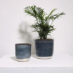 Cachepot Torand em Cerâmica - Azul Escuro