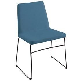 Cadeira Andy C/Pés em Aço Carbono - Azul Jeans