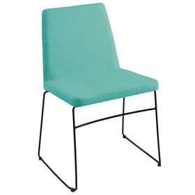 Cadeira Andy C/Pés em Aço Carbono - Azul Turquesa