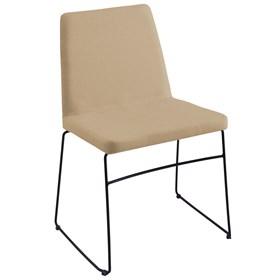 Cadeira Andy C/Pés em Aço Carbono - Bege