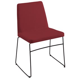 Cadeira Andy C/Pés em Aço Carbono - Marsala