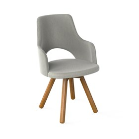 Cadeira Ankor C/Braços de Base Fixa