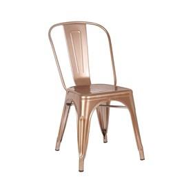 Cadeira Apolo Dourado/Cobre em Aço Carbono