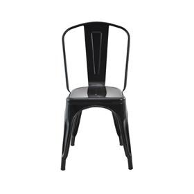 Cadeira Apolo Vintage em Aço Carbono - Preto