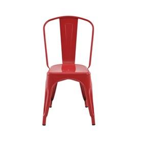 Cadeira Apolo Vintage em Aço Carbono - Vermelho