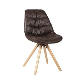 Cadeira Aquiles em Couro Sintético - Café