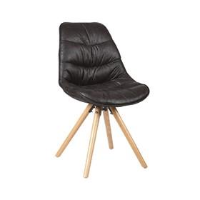 Cadeira Aquiles em Couro Sintético - Preto