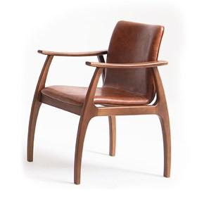 Cadeira Baden em Madeira e Encosto Anâtomico