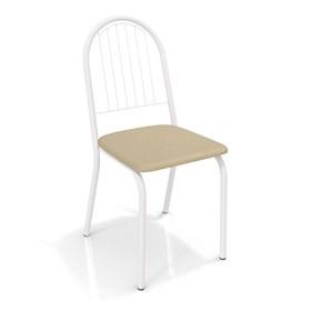 Cadeira Banner em Metal Branco - Nude