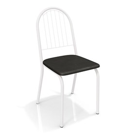 Cadeira Banner em Metal Branco - Preto
