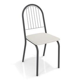 Cadeira Banner em Metal Preto - Branco
