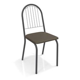 Cadeira Banner em Metal Preto - Marrom