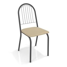 Cadeira Banner em Metal Preto - Nude