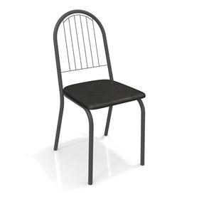 Cadeira Banner em Metal Preto - Preto