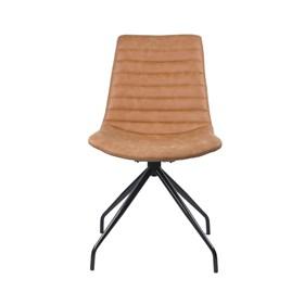 Cadeira Barkley em Couro Sintético C/Base Giratória - Caramelo