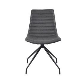 Cadeira Barkley em Couro Sintético C/Pés de Aço - Preto