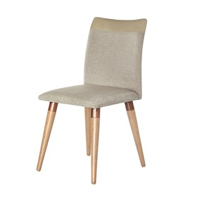 Cadeira Becca Cinamomo C/Pés de Madeira Maciça Linked 02