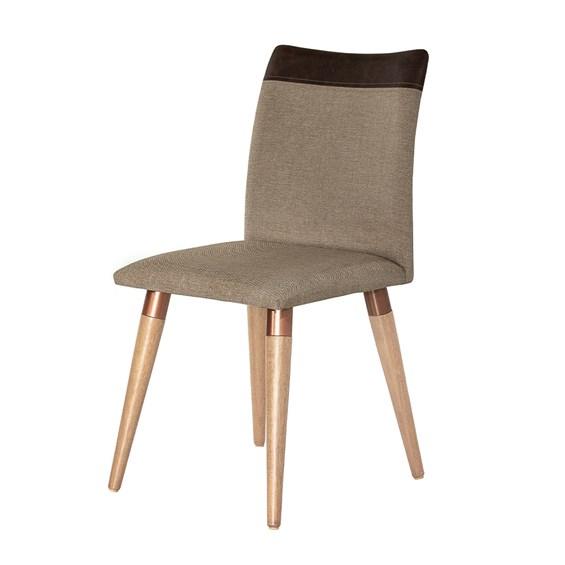 Cadeira Becca Cinamomo C/Pés de Madeira Maciça Linked 75