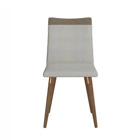 Cadeira Becca Natural C/Pés de Madeira Maciça Linked 35