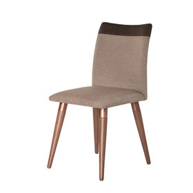 Cadeira Becca Natural C/Pés de Madeira Maciça Linked 75