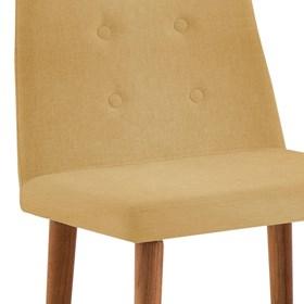 Cadeira Betty C/Pés em Madeira Maciça - Amarelo