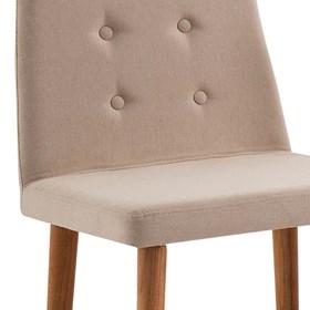 Cadeira Betty C/Pés em Madeira Maciça - Bege