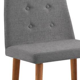 Cadeira Betty C/Pés em Madeira Maciça - Cinza