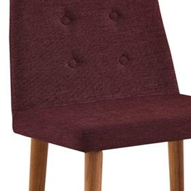 Cadeira Betty C/Pés em Madeira Maciça - Marsala