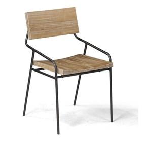 Cadeira Blumenau em Madeira Maciça e Aço