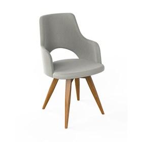 Cadeira Branson C/Braços de Base Fixa
