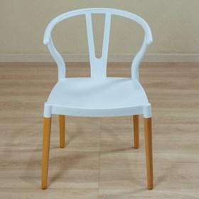 Cadeira Bruges C/Pés em Madeira Maciça - Branco